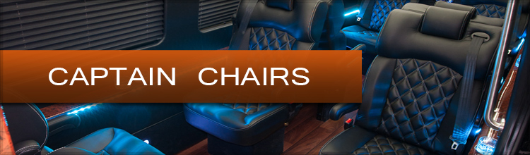 Captain Chairs Mercedes Sprinter Van and Bus Custom Luxury Seats