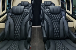 Shuttle Seats Black Leather Diamond 071818